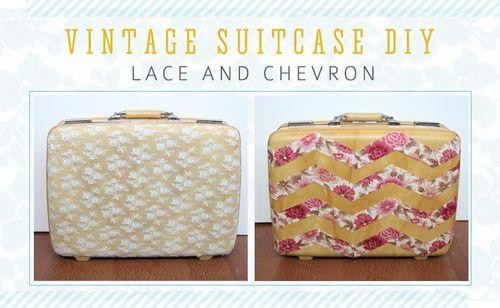 Lace-and-chevron-vintage-suitcase-DIY